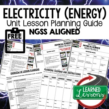 Electrical Energy Lesson Plan Guide for NGSS Science, BACK TO SCHOOL