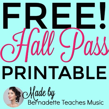 Elegant, Colorful, Free Printable Hall Pass Variety by Bernadette