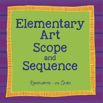 Elementary Art Scope and Sequence by Emily Glass TpT