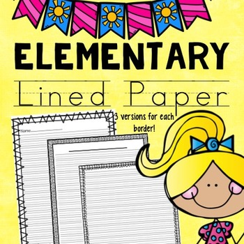 Lined Paper With Borders Teaching Resources Teachers Pay Teachers - lined border paper