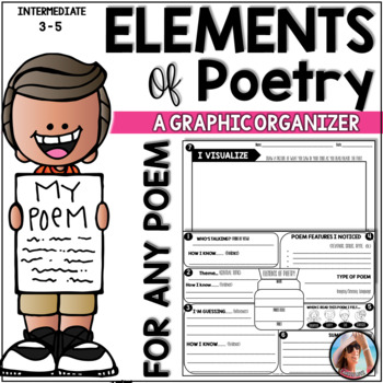 Elements of Poetry Graphic Organizer - For ANY Poem by Carrie Lutz