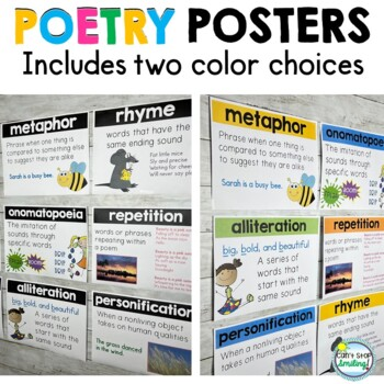 Poetry Posters ~ Poetry Elements by Can\u0027t Stop Smiling TpT