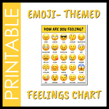 Emoji Feelings Chart by Social Workings Teachers Pay Teachers - Feeling Chart