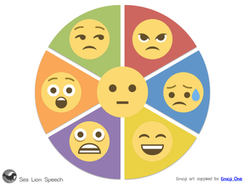 Emoji Emotions Wheel By Sea Lion Speech Teachers Pay