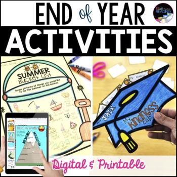 End of Year Activities, No Prep Last Week of School Activities TpT