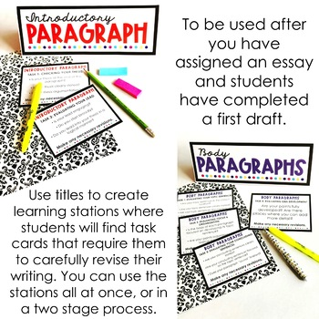 Essay Revision Learning Stations by Room 213 Teachers Pay Teachers