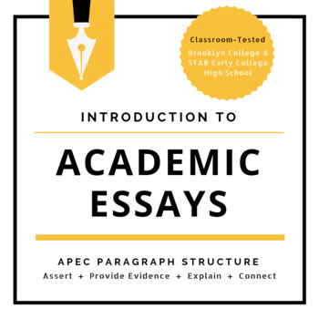 Introduction to Academic Essays APEC Paragraph Structure by Josh Borja