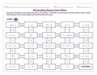 Evaluating Expressions Maze (Worksheet Activity) by 123 ...