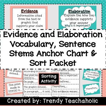 Elaboration Sentence Starters Teaching Resources Teachers Pay Teachers