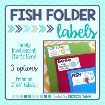 FISH Folder Labels (for take home or homework folders) by School and