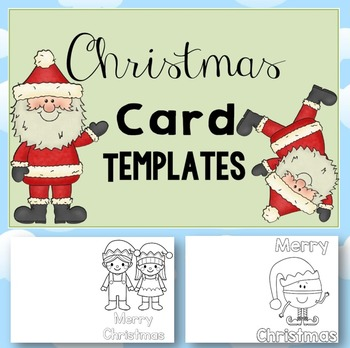 FREE Christmas Card Templates by Clever Classroom TpT - free templates christmas