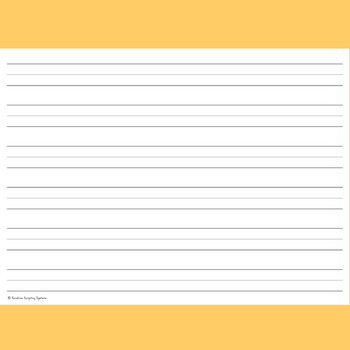 FREE! 72pt 1 inch Lined Writing Paper for Pre  K Handwriting - lined writing paper