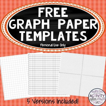 FREE Cartesian Coordinate Plane Graph Paper Templates (Personal use
