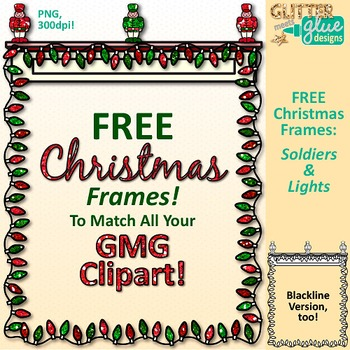 Christmas Frames Clip Art Free Page Border Graphics 1 {Glitter