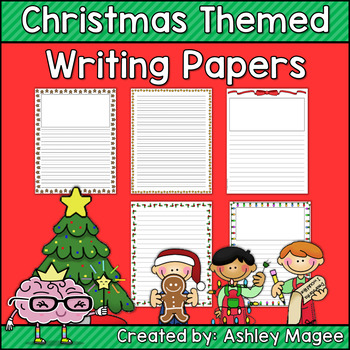 FREE Christmas Holiday Themed Writing Papers by Mrs Magee TpT