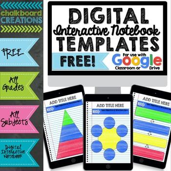 FREE Digital Interactive Notebook  Graphic Organizer Template