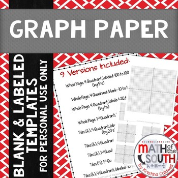 FREE - Graph Paper / Coordinate Plane / Coordinate Grid Templates - free graph paper templates