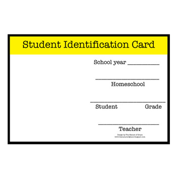 FREE Homeschool Student and Teacher Identification Card by Michelle