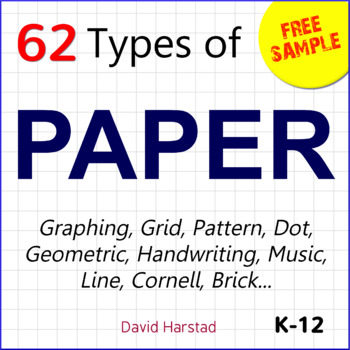 FREE - Paper Bundle Excerpt 1 cm Graph Paper (K-12) by The Harstad