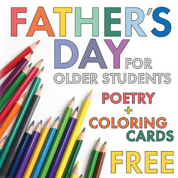 FREE Poetry Lesson, Father\u0027s Day Card Materials for Older Students/Teens - father day cards