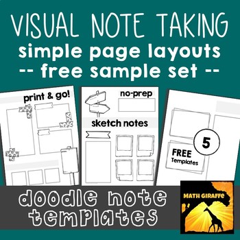 FREE Doodle Note Templates - Basic Page Layouts by Math Giraffe TpT