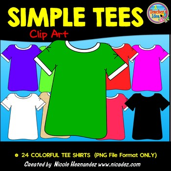 Simple Tees (T-Shirts) Clip Art for Teachers