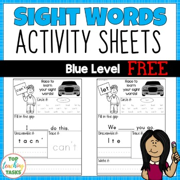 High Frequency Sight Word Printables for Year One Blue Level NZ