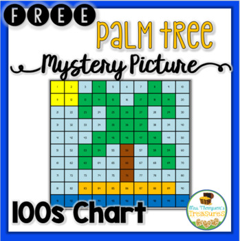 FREE Summer Palm Tree Hundreds Chart Mystery Picture TpT - hundreds chart