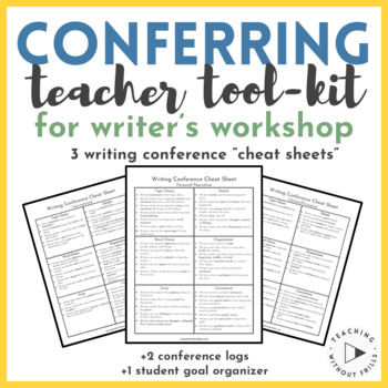 Writer\u0027s Workshop Conferencing Cheat Sheets  Conference Logs for