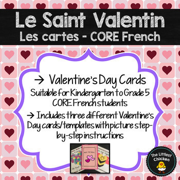 French Valentines Day Cards Teaching Resources Teachers Pay Teachers