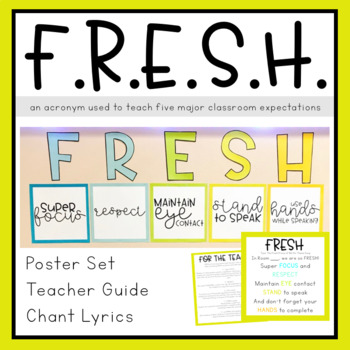 Classroom Expectations - FRESH by Teaching and so Fourth TpT