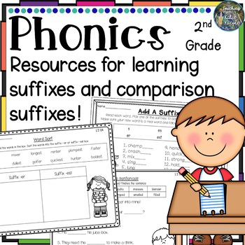 2nd Grade Phonics Resources for suffixes s, es, ed, ing
