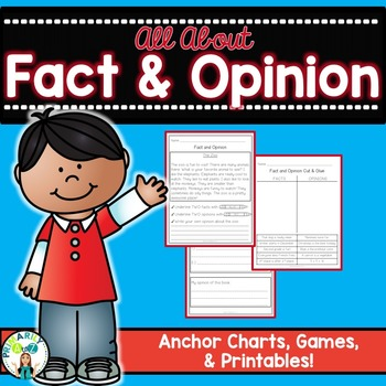 Fact And Opinion Anchor Chart Worksheets  Teaching Resources TpT