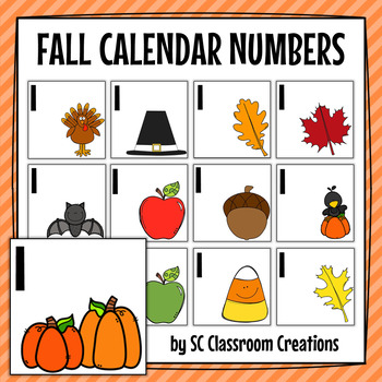 Fall Calendar Numbers by SC Classroom Creations TpT