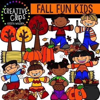 Fall Fun Kids {Creative Clips Digital Clipart} TpT