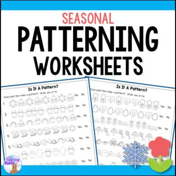 Patterning Worksheets by The Teaching Rabbit Teachers Pay Teachers