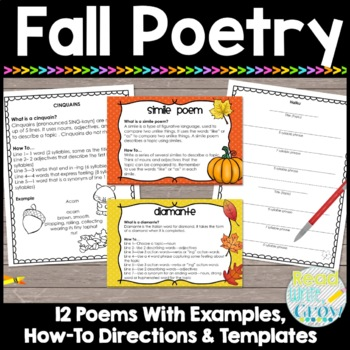 Fall Poetry by Read Write Grow With Mrs K Teachers Pay Teachers
