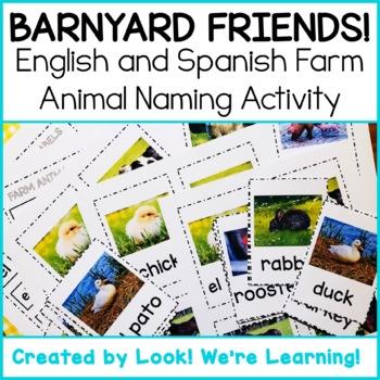 Farm Animal Flashcards - Barnyard Friends! by Look We\u0027re Learning
