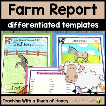Informational Writing Templates Farm Animals Activities Farm