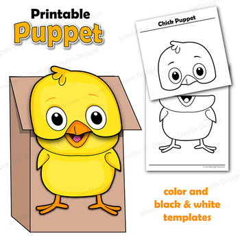Farm Animal Craft - Printable Paper Bag Puppets by Dancing Crayon