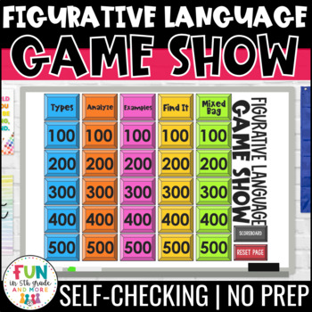 Figurative Language Game Show Figurative Language Review Game