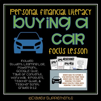 Buying A Car Worksheet High School - buying a car worksheet high