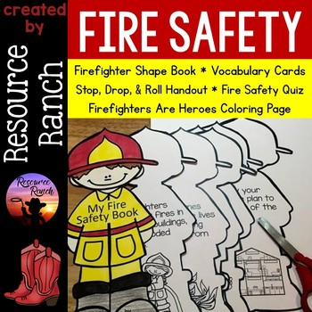 Fire Safety Shape Book and Printables by Resource Ranch TpT