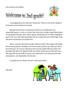 Education World Welcome Letter Template First Day Of School Letter To Parents Free By Teaching
