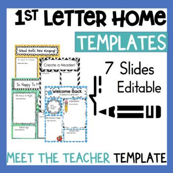 Teacher Letter Home by The Whimsical Teacher Teachers Pay Teachers - teacher welcome back letter