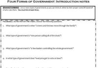 Types Of Government Worksheet - Geersc