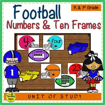 Football Numbers 0-25, Ten Frames  Number Word Match TpT