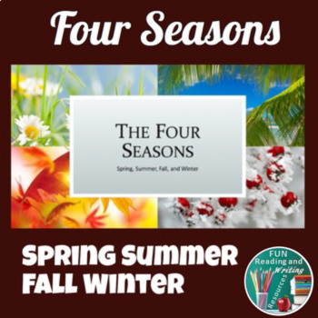 Four Seasons PowerPoint - Spring, Summer, Fall, and Winter TpT