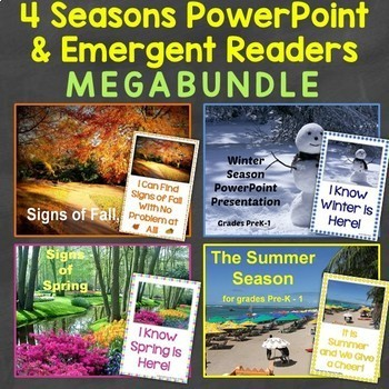 Four Seasons PowerPoint  Emergent Readers MEGABundle TpT