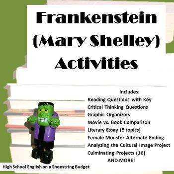Frankenstein Activity Bundle (Mary Shelley)- PDF version by msdickson